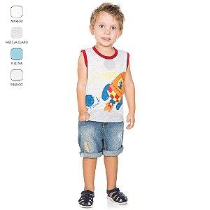 Camiseta Machão Infantil para Menino (Verão)
