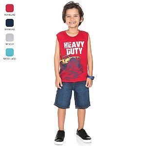 Camiseta Machão de Meia Malha Infantil para Menino (Verão)