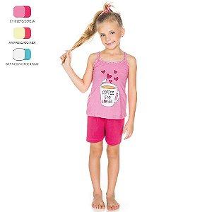 Pijama Infantil Camiseta de Alcinha para Menina (Verão)