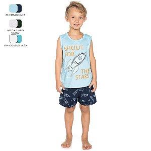 Pijama que Brilha no Escuro Infantil para Menino (Verão)