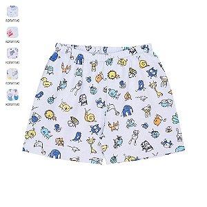 Kit 3 Shorts para Bebê Unissex Estampas Sortidas (Verão)