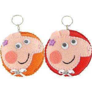 Lembrancinhas de Feltro Chaveiro da Peppa Pig 6 Unidades