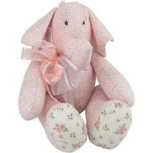 Elefantinho de Pano Rosa