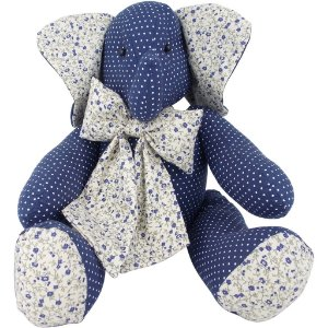 Elefantinho de Pano Poá Azul