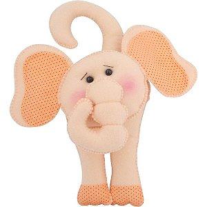 Elefantinho de Feltro para Maçaneta de Porta