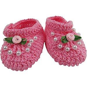 Sapatinho de Crochê para Menina Princesa RN