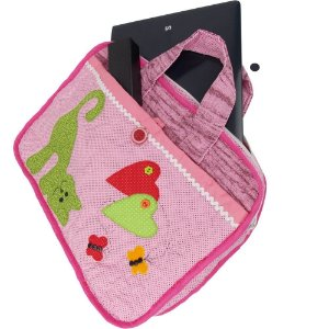 Bolsa de Patchwork para Notebook com Patch Aplique de Gato