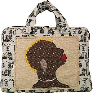 Bolsa de Patchwork para Notebook Africana