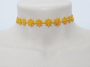 Choker Flores Amarelo