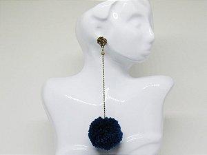 Brinco Pompom Azul OV