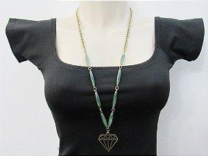 Colar Diamante Verde OV