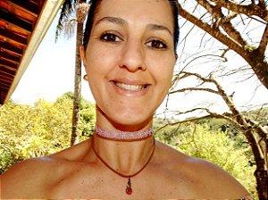 Choker Triplo Rosinha