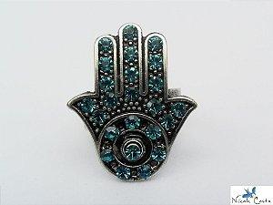 Anel Hamsá – Azul