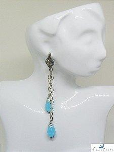 Brinco Pêndulo Azul