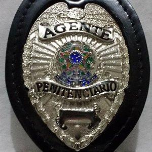 Distintivo bolachão emborrachado agente penitenciário