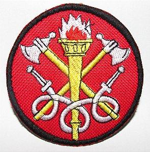 Bordado bombeiro civil redondo