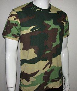 Camiseta camuflada woodland