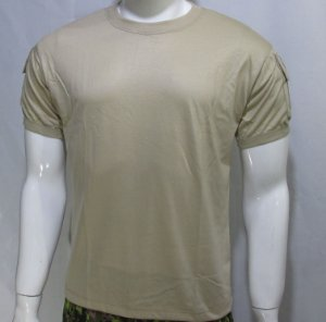 Camiseta t-shirt tan militar bolsos tático