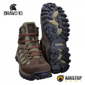 Bota Coturno Hiking Boot Bravo 10 Brown Green 5700-22
