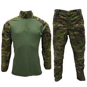 Calça e Combat t-shirt Multicam tropic