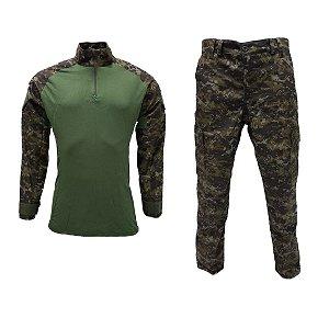 Farda calça e combat shirt digital florestal
