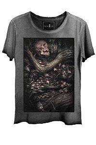 Camiseta  Estonada Gola Canoa Corte a Fio Passion