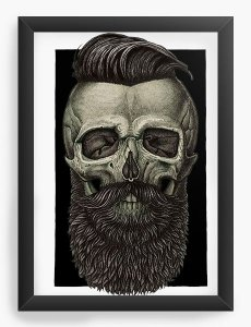 Quadro Decorativo Skull Barber