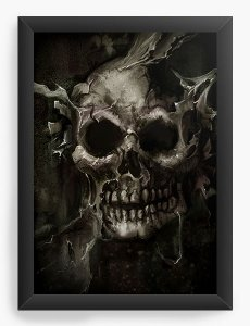 Quadro Decorativo Skull Root Tree