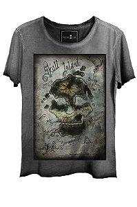 Camiseta  Estonada Gola Canoa Corte a Fio Island