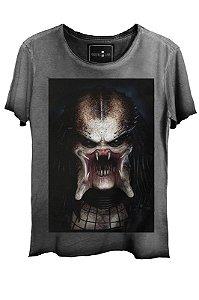 Camiseta Estonada Gola Canoa Corte a Fio Predador