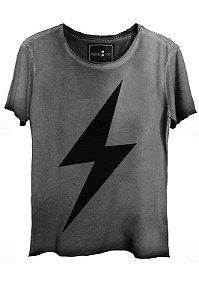 Camiseta Estonada Gola Canoa Corte a Fio  Flash