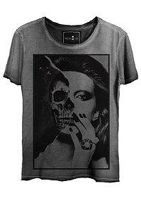 Camiseta  Estonada Gola Canoa Skull Girl