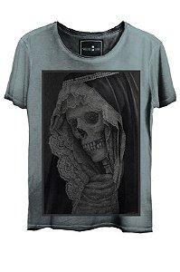 Camiseta  Estonada Gola Canoa  Skull