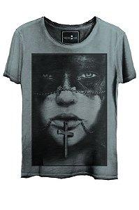 Camiseta  Estonada Gola Canoa Cross