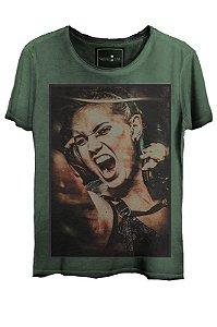 Camiseta  Estonada Gola Canoa Steam Punk Verde