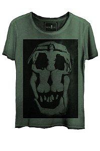 Camiseta  Estonada Gola Canoa Skull Corps