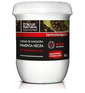 Pimenta Negra D'agua Natural Creme de Massagem 650g