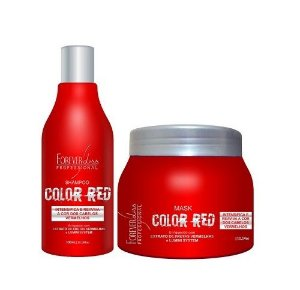 Kit Shampoo e Mascara Color Red Forever Liss