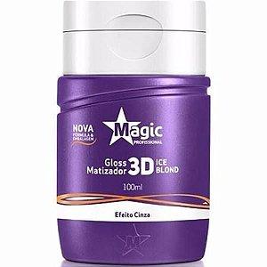 Mini Gloss Matizador 3D Ice Blond Efeito Cinza 100ml - Magic Color