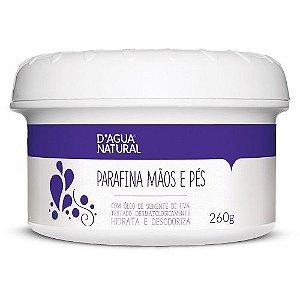 Parafina Mãos e Pés D'agua Natural 260g