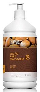 Loção Para Massagem D'Água Natural Óleo de Argan - 1L