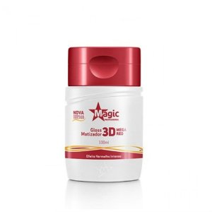 Gloss Matizador 3D Magic Color Mega Red - 100ml
