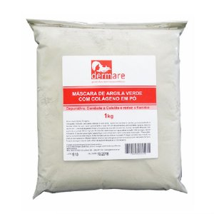 Argila Verde Dermare com Colágeno em Pó - 1kg