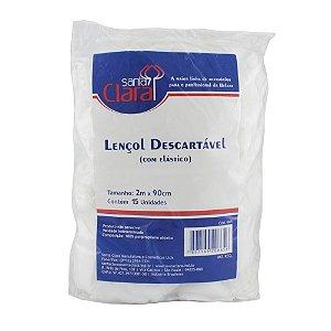 Lençol Descartável C/ Elástico não Tecido - 15 un