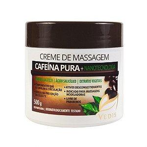 Creme de Massagem Nanocellulitech e Cafeína Pura Vedis - 500g