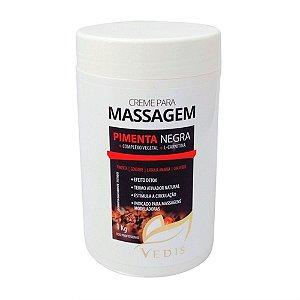 Creme de Massagem Termo Ativador Pimenta Negra Vedis - 1kg