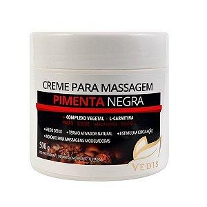 Creme de Massagem Pimenta Negra e L-Carnitina Vedis - 500g