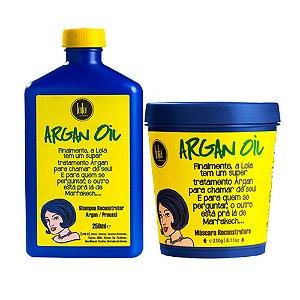 Kit Reconstrução Capilar Lola Cosmetics Argan Oil - 2 itens