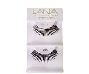 Lana Professional Par de Cílios Postiços - Black Nº412