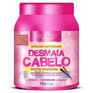 Desmaia Cabelo Mascara Efeito Chapinha Keratinex - 1kg